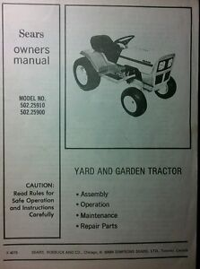 sears murray st8 st10 lawn garden tractor owner parts manual 36pg rh ebay com Old Murray Lawn Mower Manuals Murray Riding Lawn Tractor Manuals