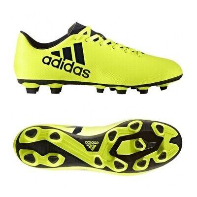Adidas x 17.4 Fxg 41 46 Calcio Flessibile Ground Neon Giallo S82401 Nuovo | eBay