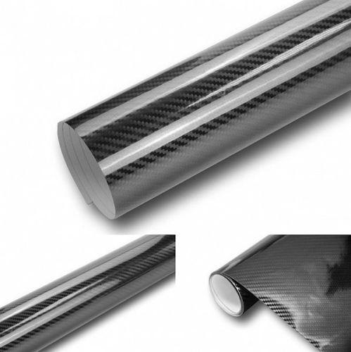 m²  - 5D Carbon Folie - 500 x 152 cm Super Glanz - Autofolie selbstklebend