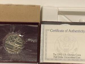 1992 Proof Olympic Commemorative Half Dollar with Box