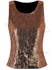5ab0fc5822fd8d item 2 Women s Sleeveless Shimmer Glam Sequin Embellished Sparkle Tank Top  Vest Tops -Women s Sleeveless Shimmer Glam Sequin Embellished Sparkle Tank  Top ...