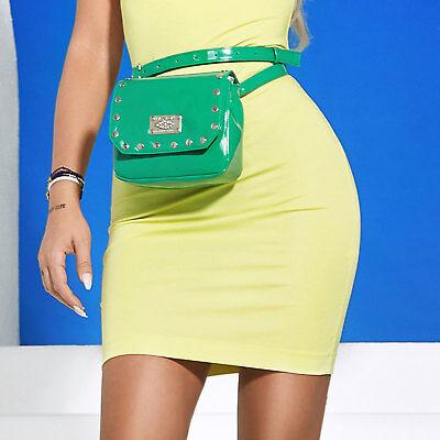 Diplomatico By Alina Donna Borsa Marsupio Tracolla Borsa Micro Borsa Bag Vernice Verde-mostra Il Titolo Originale