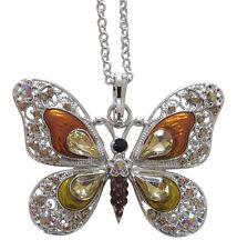Halskette,anhänger muster schmetterling farbe bernstein überragend kristall