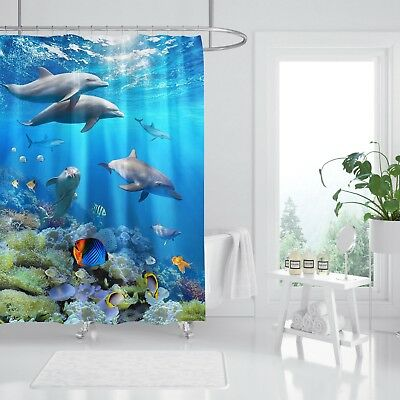 Home & Garden Knowledgeable 3d Delphin Fisch 782 Duschvorhang Wasserdicht Faser Bad Daheim Windows Toilette