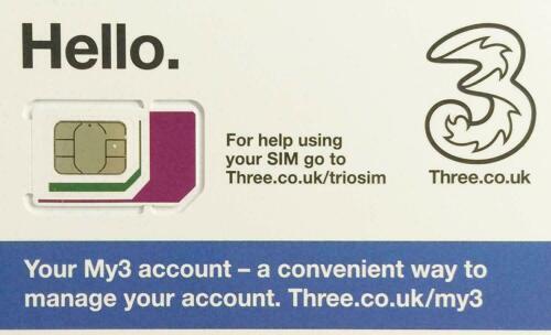 4 X 4G PAYG tres tarjeta sim Nano//Micro//estándar trío pago según el uso