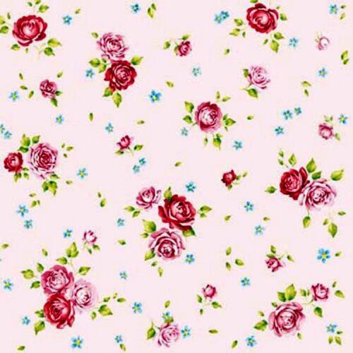 4 x papel de Mesa Vintage Servilletas Craft-Rosas-Rosa Flo Para Decoupage Art D33