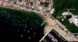 Venta terreno 6528m2 vista al mar frente a playa en Puerto Marques Acapulco