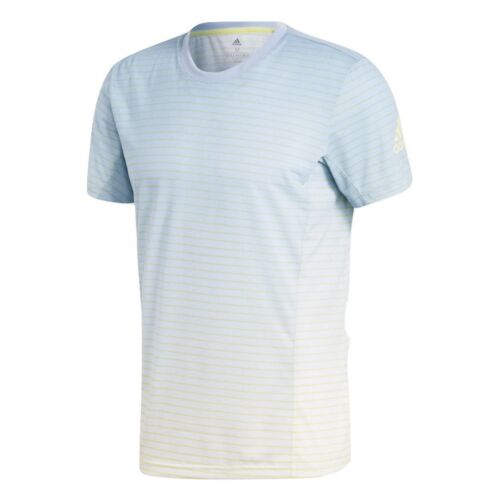 tennis Bleu s rayures Nouveau L shirt hommes cendré en M T à climalite Adidas de XL pour Melbourne f7aqwtXq