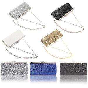 All-Over-Glitter-Lady-Clutch-Evening-Handbag-Shiny-Rhinestones-Top-Clasp-Bling