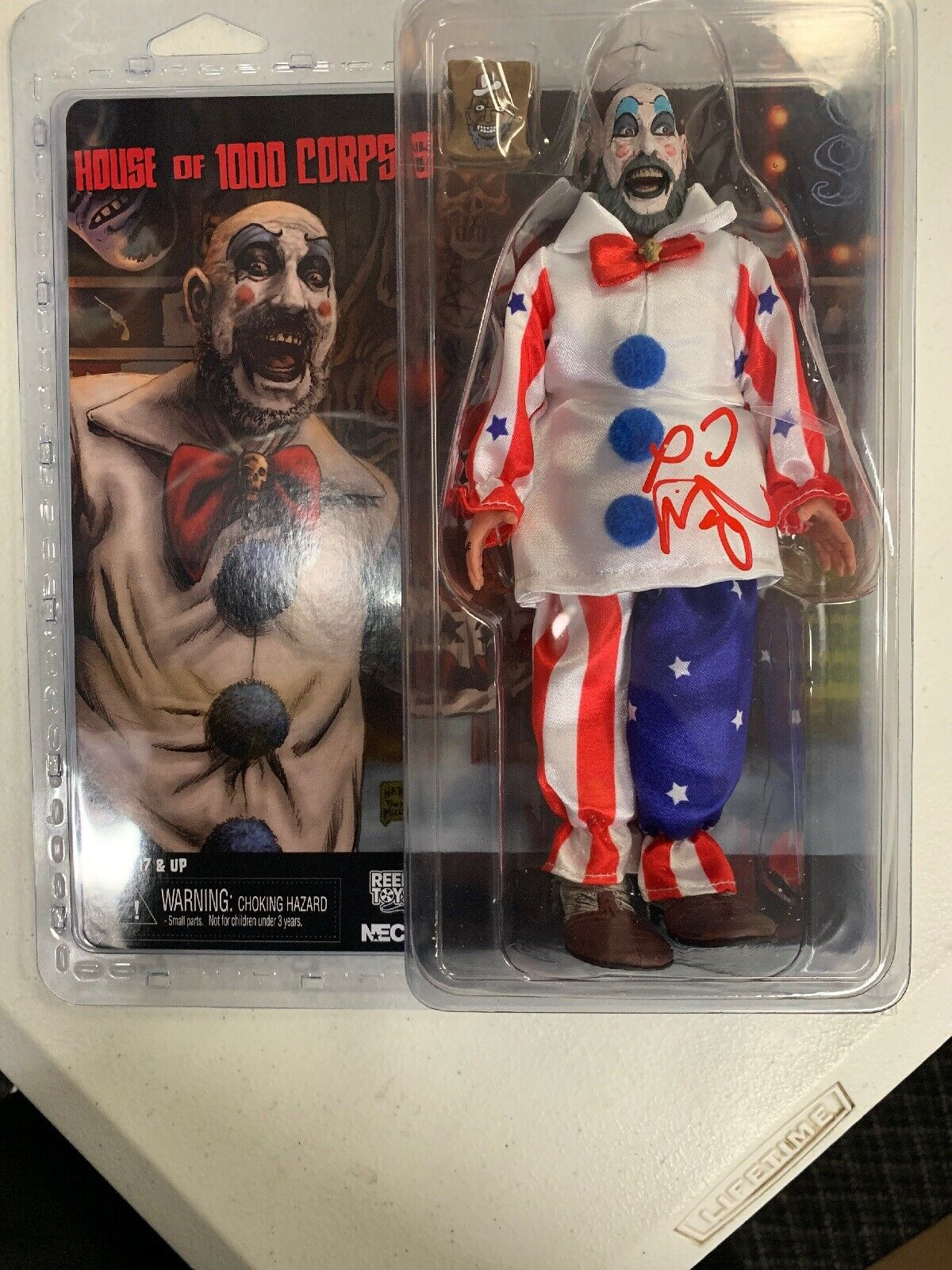 Captain Spaulding Sid Haig Signed Cargraphed Action Figure Neca Rare New