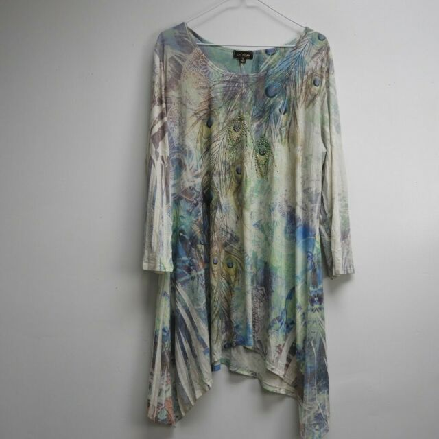 Cal Style Tunic Top Womens multicolor size XL 3/4 Long sleeve