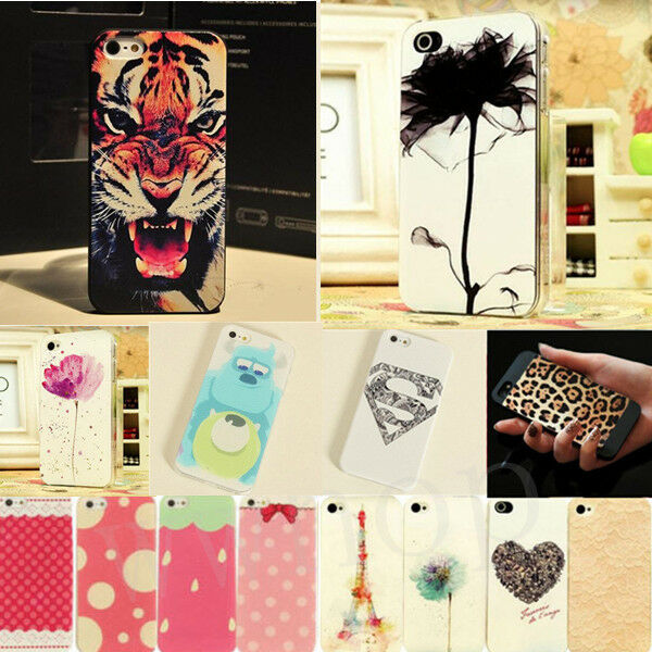 Hot Painted Pattern Hard Back Skin Phone Case Cover for Apple IPhone 4 4S 5 5S