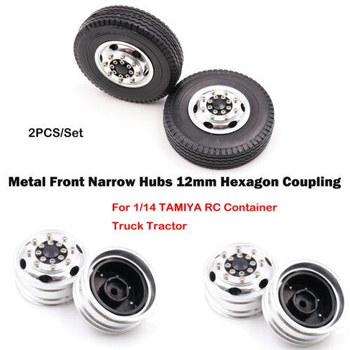 2 Metallfront schmale Naben Sechskantkupplung für 1//14 TAMIYA RC LKW-Autoteile