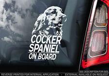 Cocker Spaniel - Car Window Sticker - English Dog on Board Sign