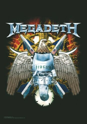 FABRIC POSTER FLAG MEGADETH 2 SIDED 30 in x 43 in EAGLE