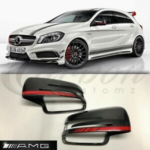Details About Mercedes Benz A Class W176 A45 Amg Edition 1 Real Oem Carbon Fibre Mirror Covers