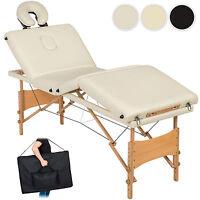 Table De Massage 4 Zones Cosmetique Lit Esthetique Pliante Bois Reiki +sac