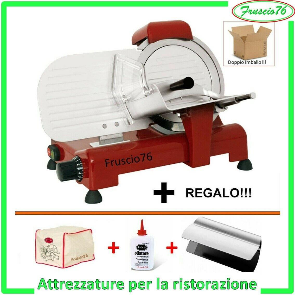 AFFETTATRICE Elettrica 25 RGV SPECIAL EDITION Rossa con COPERTURA OLIATORE PINZA