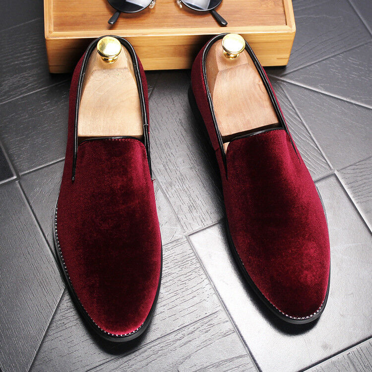 Uomo Casual Suede Pleuche Driving Moccasins Gommino Slip on Loafers Casual Shoes
