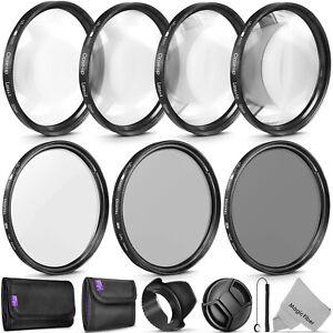 Foto-de-52MM-altura-UV-CPL-Filtro-de-Lente-de-ND4-y-Kit-de-accesorios-de-primer-plano-macro