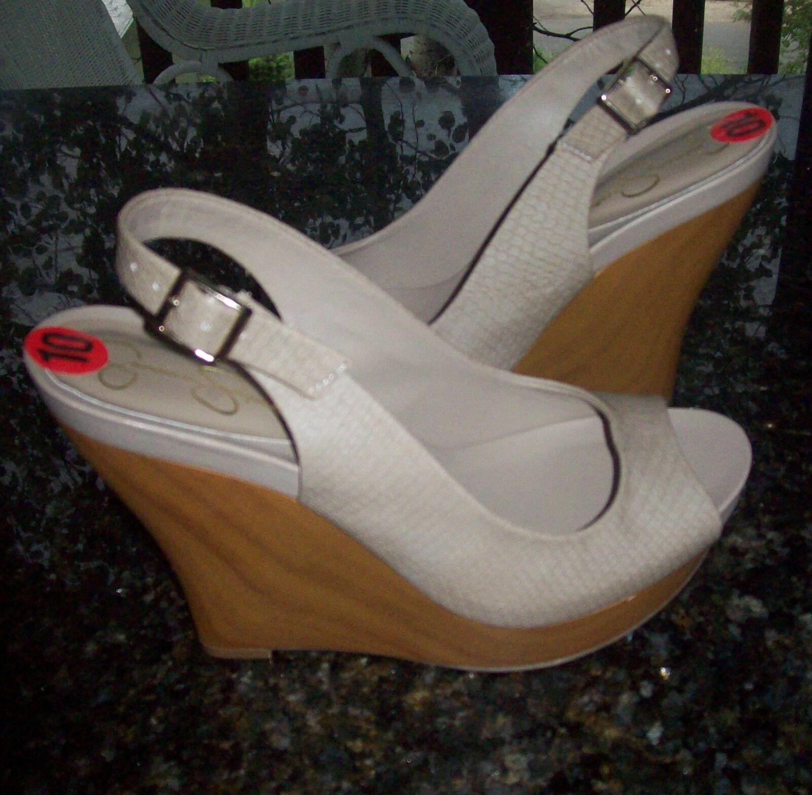 Jessica Simpson Genette wedge heel  Sandale /schuhe Größe 10 NEU