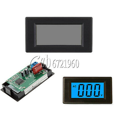 2-wire Digital Voltmeter Panel AC 80-500V LCD Digital Alternating Voltage Meter