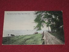 1908 The Bend, Plank Walk, Sea Cliff, L.I. Postcard Posted VG