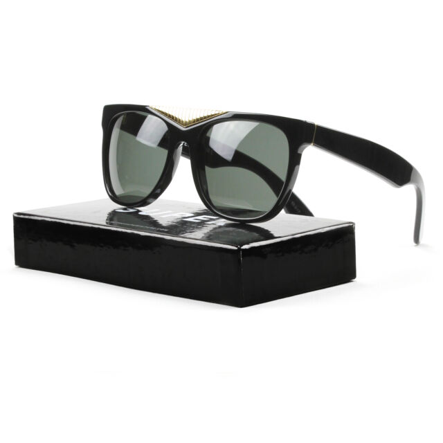 fbd5bec9a14 RETROSUPERFUTURE Super Classic 034 Sunglasses Black Gold With Black Zeiss  Lenses