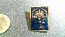 Binding Bier Pin Badge Logo Adler 1870-1995 goldener Rand Wappen