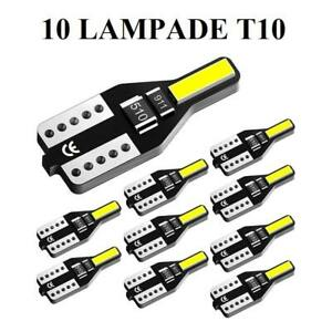 10 Lampade T10 per interno auto