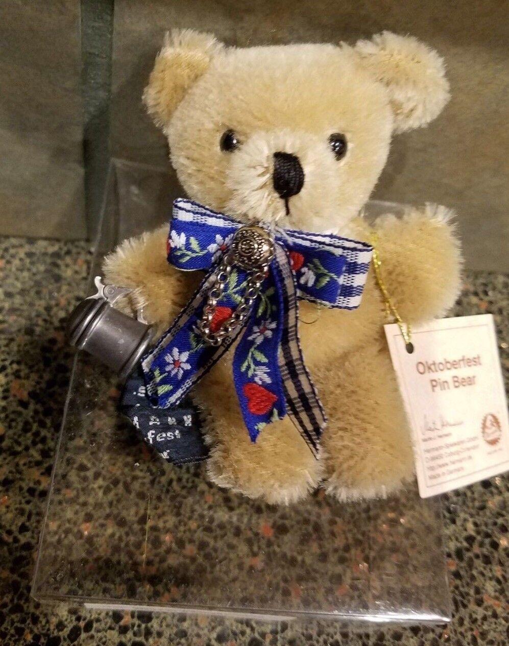 HERMANN SPIELWAREN  OKTOBERFEST BEAR  LIMITED EDITION PLUSH TEDDY BEAR