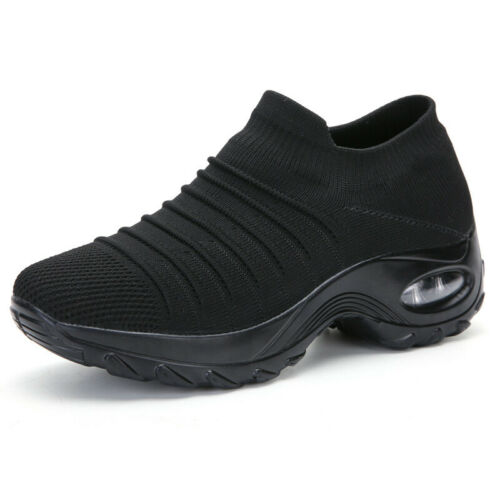 Women Air Cushion Sneakers Trainers Ladies Breathable Running Sock Shoes Size