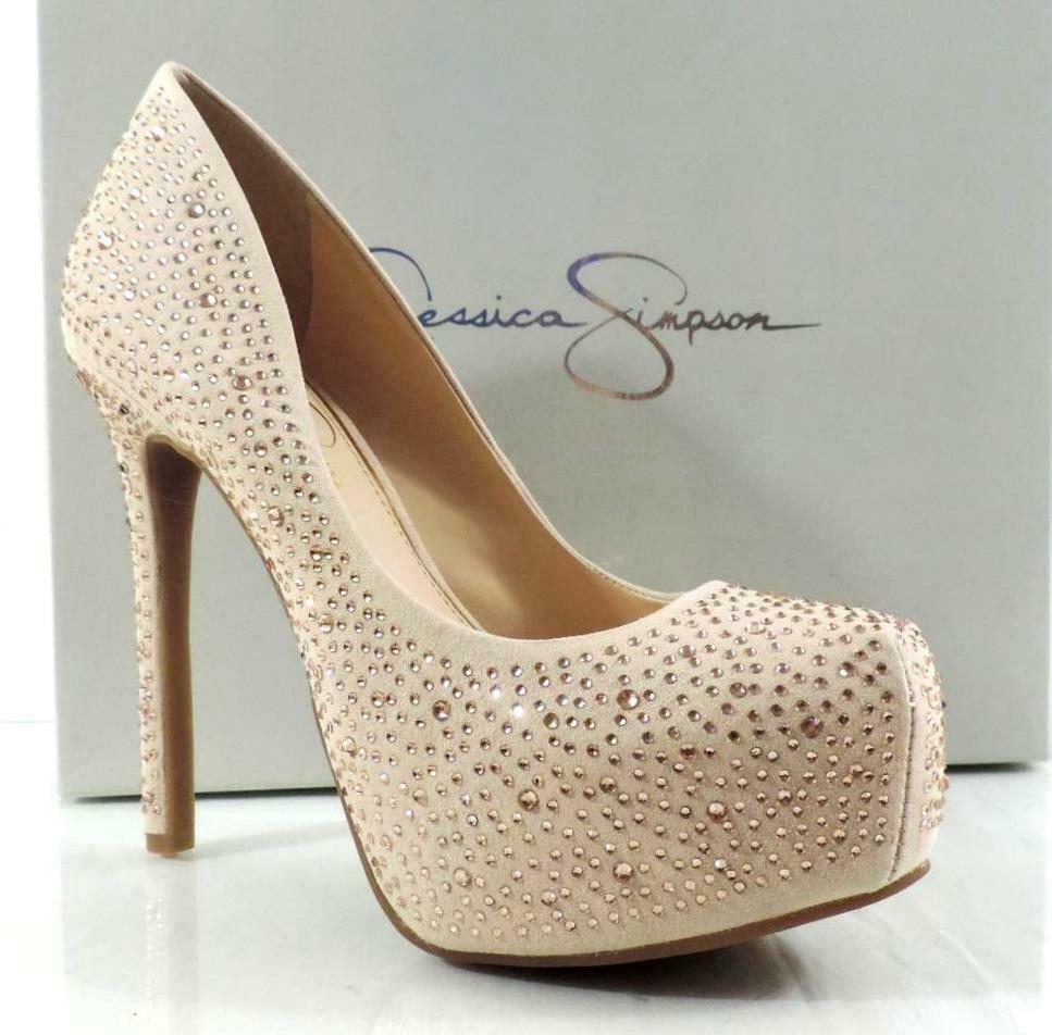 Womens shoes Jessica Simpson Rebeca 2 Platform Pumps Heels Ivory Sand Size 6.5