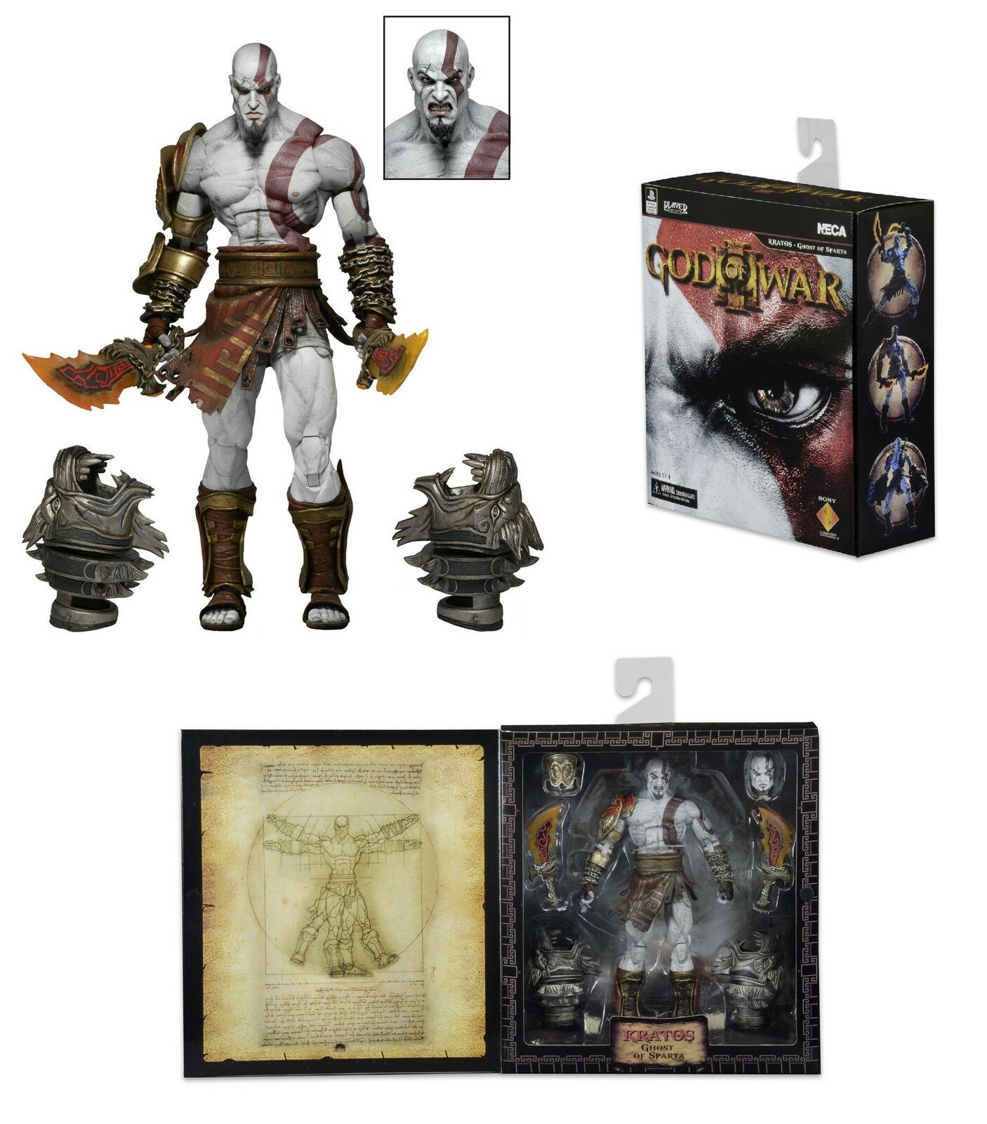 NECA GOD OF WAR III (3) Ultimate Kratos 7  Scale Figura Azione 2016