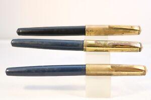 Vintage-c1950-Rolball-English-Made-Ballpoint-Pens-x-3