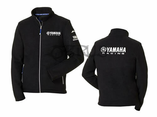 Genuine Yamaha 18 Paddock Blue Men's Black Fleece Jacket ATV QUAD MOTORCROSS