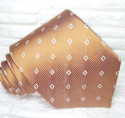 Bello Cravatta Uomo Made In Italy 100% Seta Marrone Jacquart Business Formale Evento Prezzo Più Conveniente Dal Nostro Sito