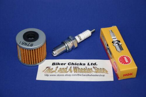 HONDA 06-07 TRX450ER Tune Up Kit NGK Spark Plug /& Oil Filter