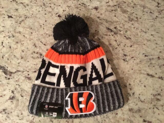 e0ea2393a Era Cinncinnati Bengals Knit Beanie Cap Hat NFL on Field Sideline 11460403