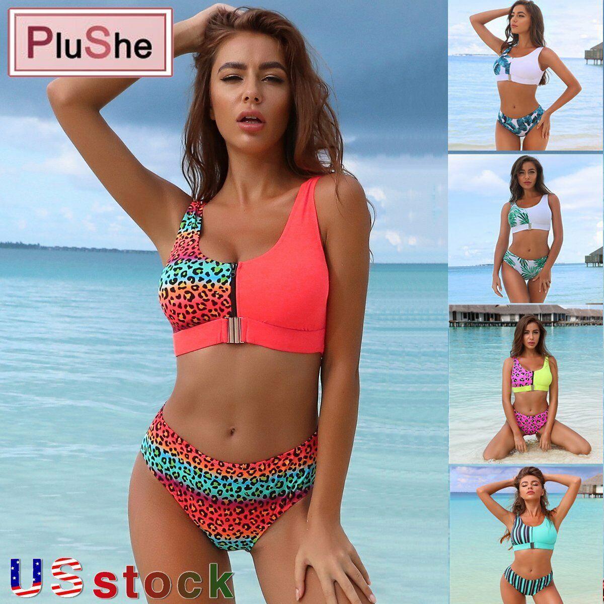 Women/'s Swimwear Bandage Bikini Set Push-up Padded Bra Beach Bathing Beachwear