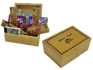 Large-Small-Wooden-Rolling-Box-Gift-Set-Smoking-papers-Raw-King-size-Roach-Tips