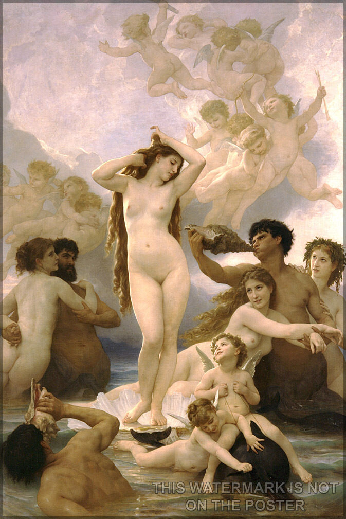 Póster,Muchos Tamaños;Nacimiento de Venus William-Adolphe Bouguereau (1825-1905)
