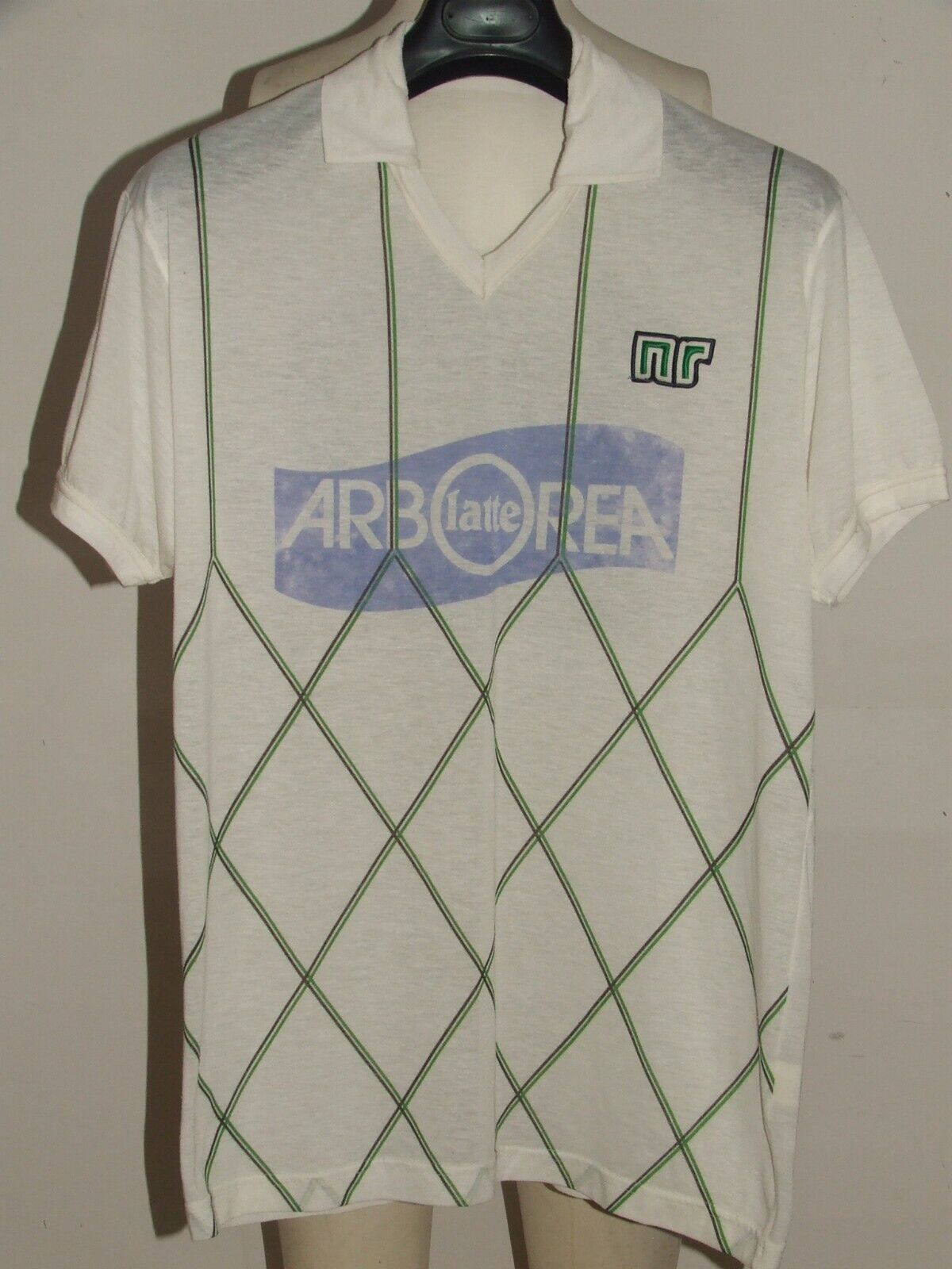 MAGLIA CALCIO SHIRT MAILLOT VINTAGE ENNERRE NR n°10 MADE IN ITALY 162 tg. 50