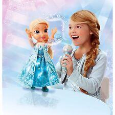 Disney Frozen Sing-A-Long Elsa Doll Sings Lights Up w/ Microphone Karaoke NEW!