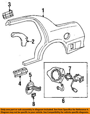 Lincoln FORD OEM Town Car QUARTER PANEL-Latch Assembly Retainer F8VZ5428608BA