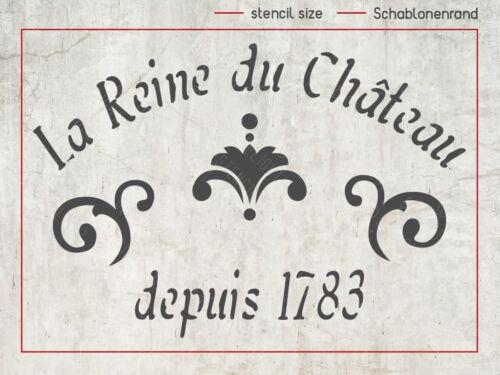 shabby chic Stencil französische vintage Schrift Schablone