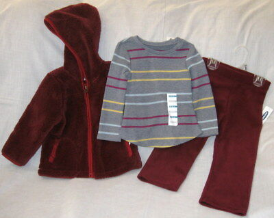 Old Navy Baby Girl/'s Size 12-24 Months Tights NWT NEW Striped Tan Burgundy