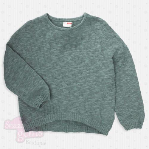 vert nouvelle 5-12 y bleu Cardigan pull filles manches longues enfants gris vente *