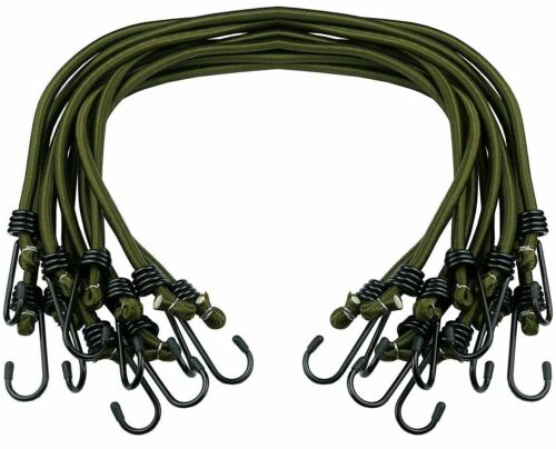 "12/"" 18/"" 30/"" Bungee Cords Wires with Zinc Hooks Cables Straps Bungie Elastic Rope"