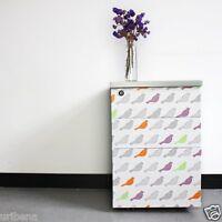 Fancy-fix Vinyl Self Adhesive Contact Paper Bird Design Multi Color Decorative